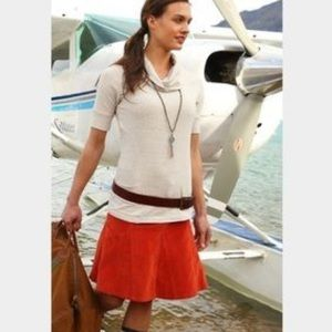 """ATHLETA whenever cord skirt """"red spice"""""""